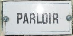 Plaque du parloir