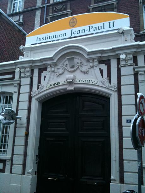 naissance de l 39 institution jean paul ii institution jean paul ii. Black Bedroom Furniture Sets. Home Design Ideas