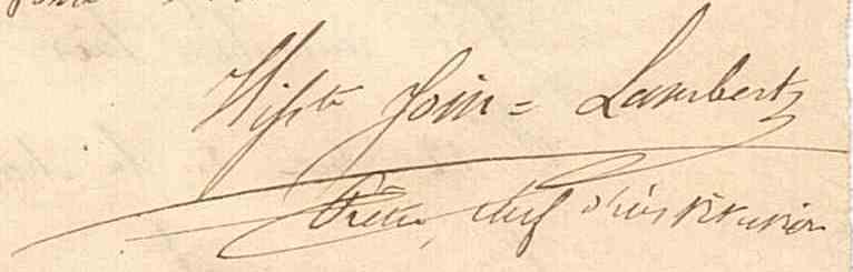 Signature JL 1847