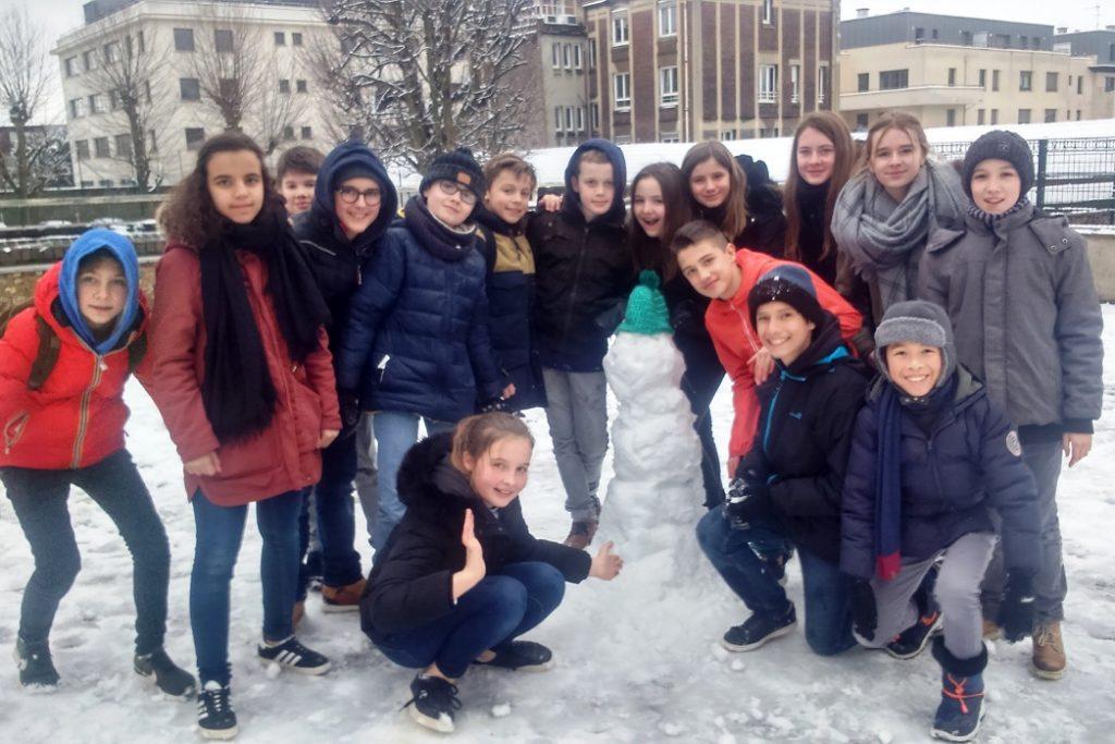 Neige cour college 5ème4